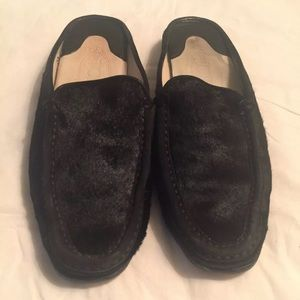 TOD'S ITALY Back Mohair Driving Mules Sz 6.5